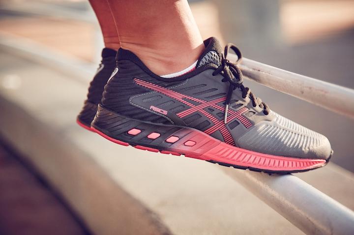 The women's shoe looks stylish and simple. [Photo courtesy of ASICS].