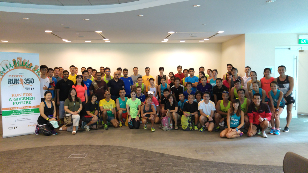 Dr Lim Baoying gave a talk to runners on preventing injuries.