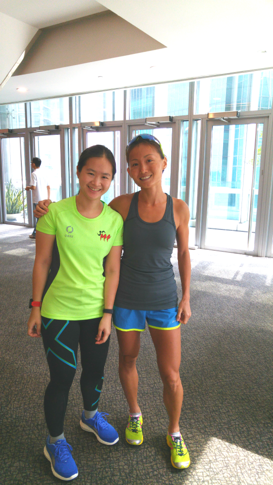 Besides the injuries themselves, Dr Lim Baoying (right) also shared some useful tips on how to prevent running injuries.