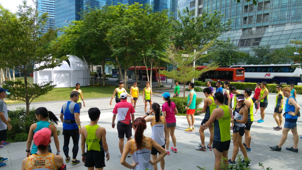 Stretching exercises are important, regardless of whether you are running alone or in a group.