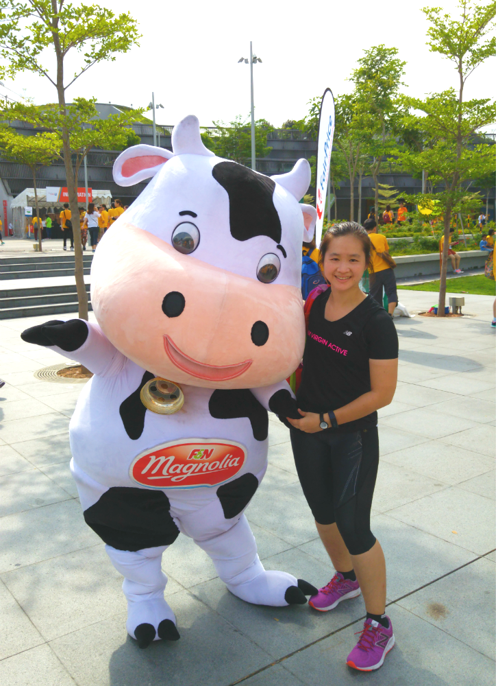 A cute Marigold cow was also at the event.