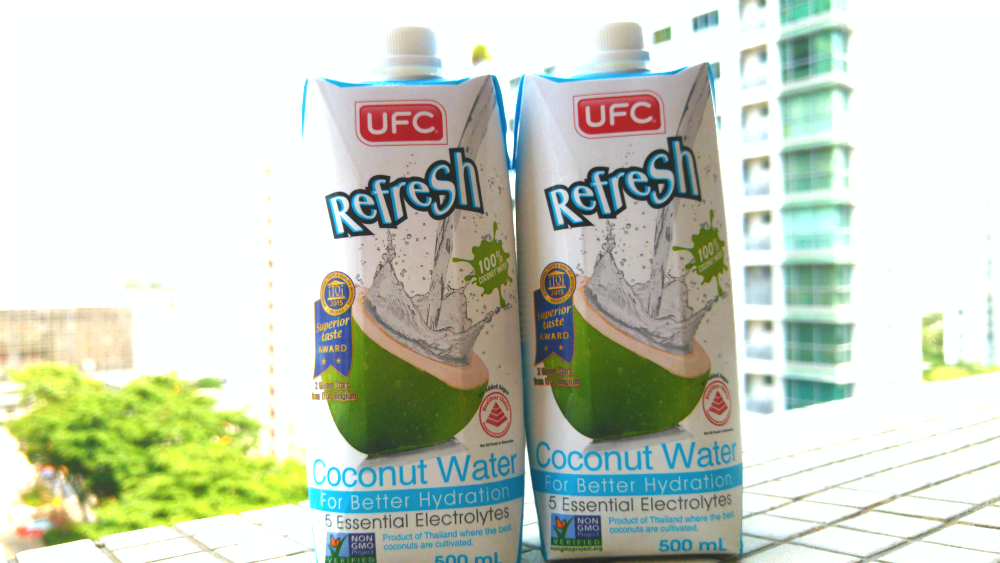 UFC gave me a box of their coconut water.