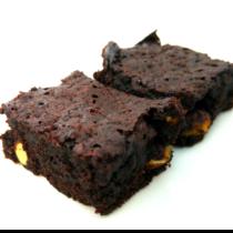 My home-made chocolate brownies.