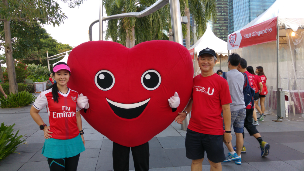 The Singapore Heart Foundation mascot was so cute.