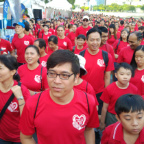 A sea of red at the starting pen.