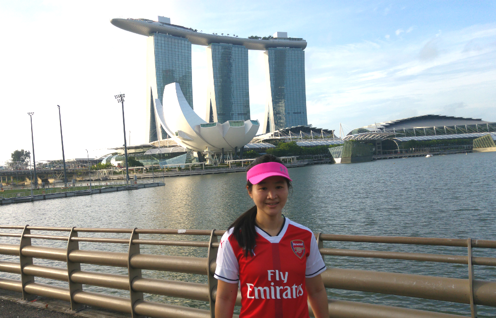 Marina Bay Sands and the ArtScience Museum along the route.