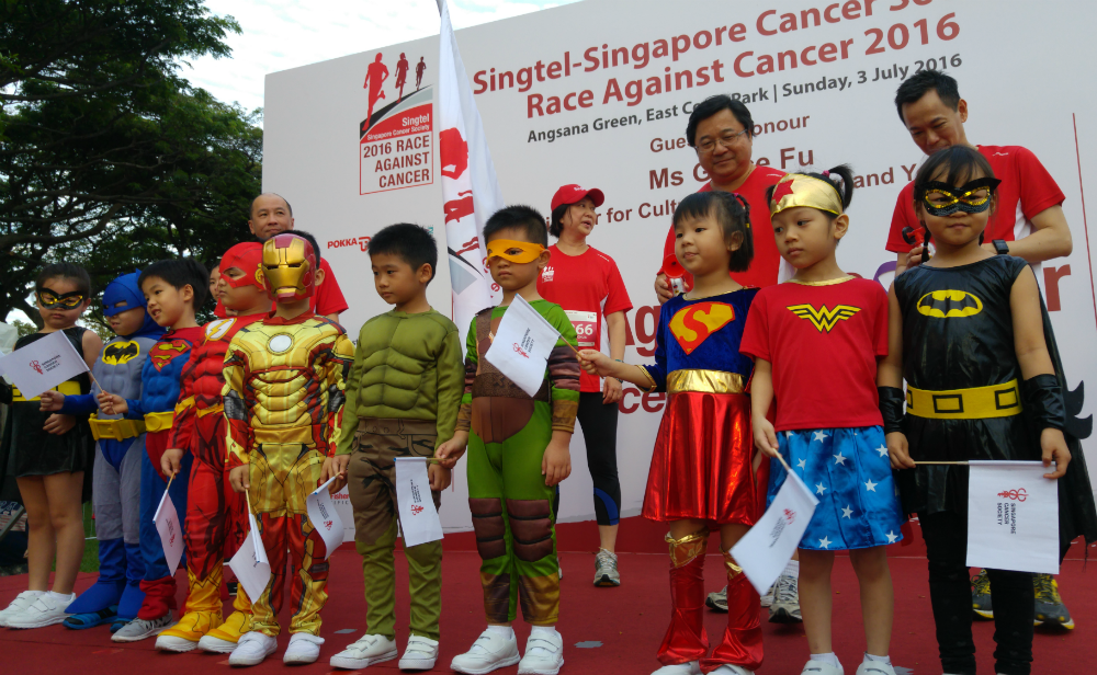 The children in their superhero costumes were adorable.