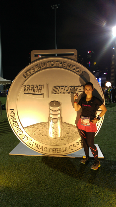 The giant Pocari Sweat medal was one of the many photo opportunities available.