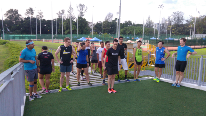 Runners at the most recent Coached Strength Session.