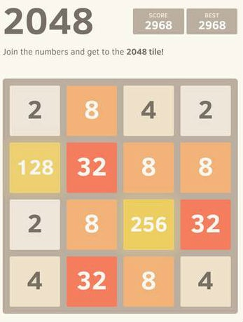 Easy 2048 Game version