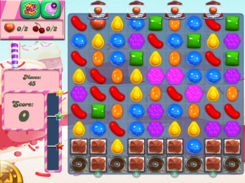 Level 361, Candy Crush Saga.