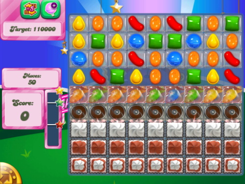 step by step strategy to beat Hard Level 404 of Candy Crush Saga.