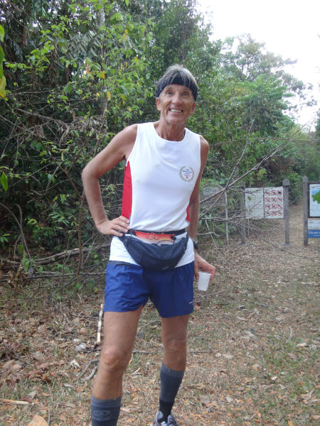 Anton at the MacRitchie Reservoir trails, doing his marathon in Singapore.
