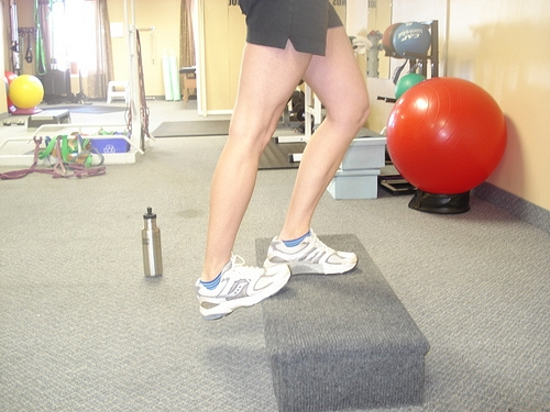 Calf stretching exercises can help in the recovery of Achilles tendinopathy. [Photo from drpeggymalone.com]