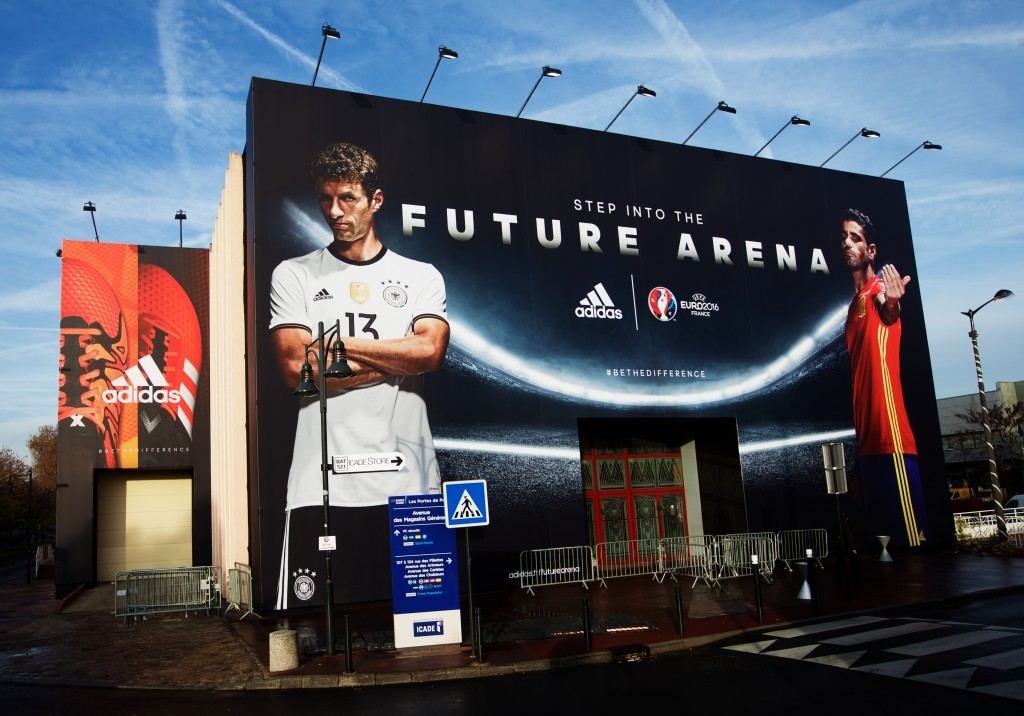 PARIS, FRANCE - NOVEMBER 12: A general view of the Future Arena during the launch of the Official Match Ball of the UEFA 2016 Euro Championship(TM) Beau Jeu at the Future Arena on November 12, 2015 in Paris, France. (Photo by Adam Pretty/Getty Images)