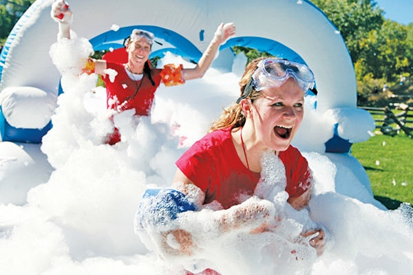 Enjoy the fun and foam at the inaugural 5K Foam Run in Singapore next month. (image from issaquashpress.com)