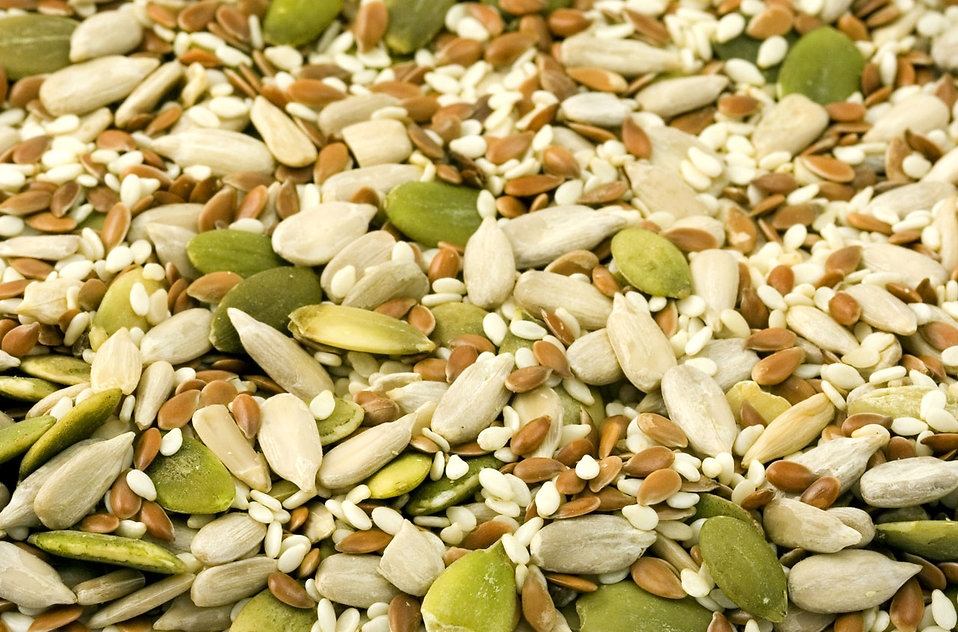 Most seeds and nuts are high in healthy unsaturated fats. [Photo from Petr Kratochvil]