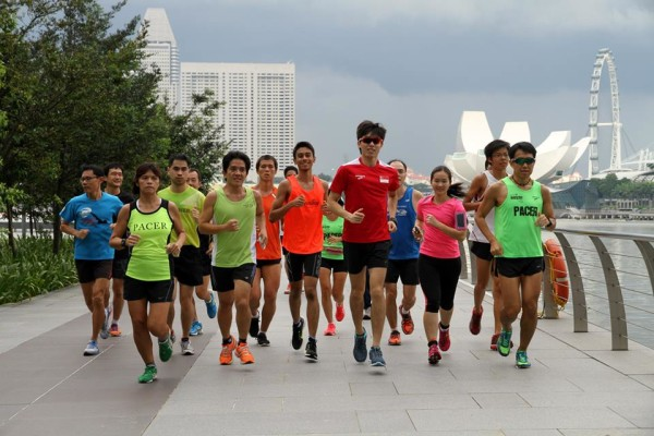 A running clinic was held, courtesy of Earth Runners and Young NTUC.