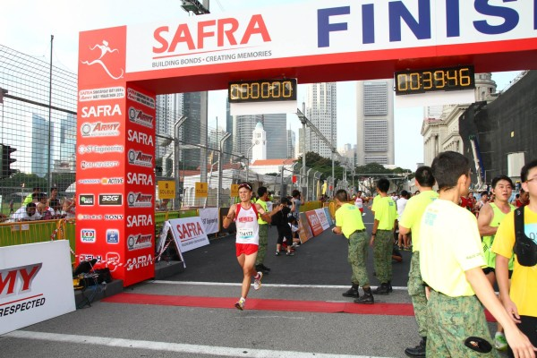 Alan Chiang runs to a new 10km personal best at the Army Half Marathon (10km Category). (PHOTO: ALAN CHIANG)