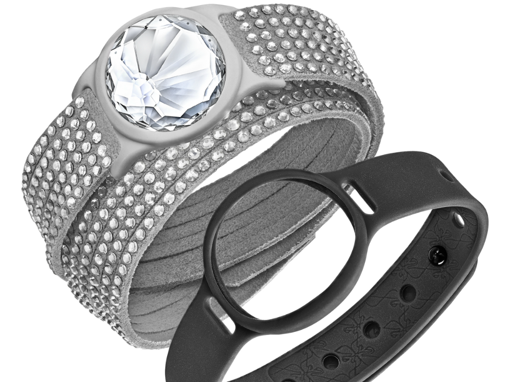 The SATJ is a collection of activity tracking jewelry. [Photo courtesy of Swarovski]