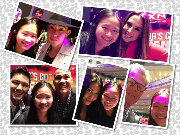 Selfies with the four judges and the two hosts!