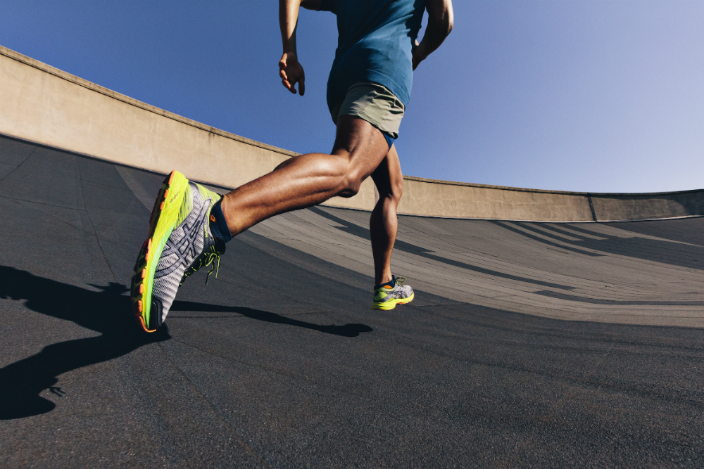 The shoes are really light to run in! [Image courtesy of ASICS]