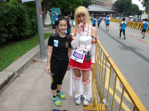 With Asuna.