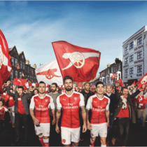 Arsenal have launched the new home kit.