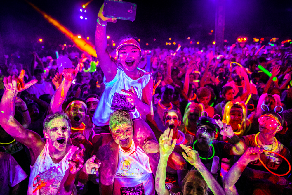 Scenes from the Blacklight Run in the USA. This run comes to Singapore on 29 October.