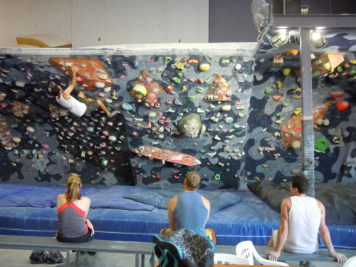 Indoor rock climbing, or bouldering, is a great full-body workout.