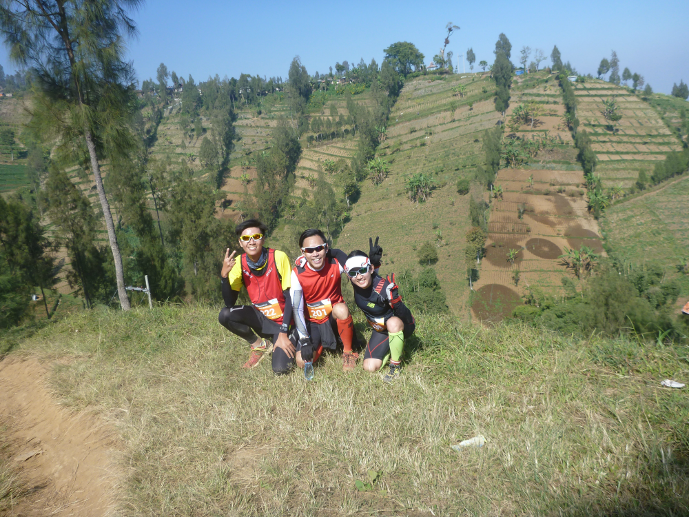 With Kevin and Vincent at the Bromo Marathon 2014