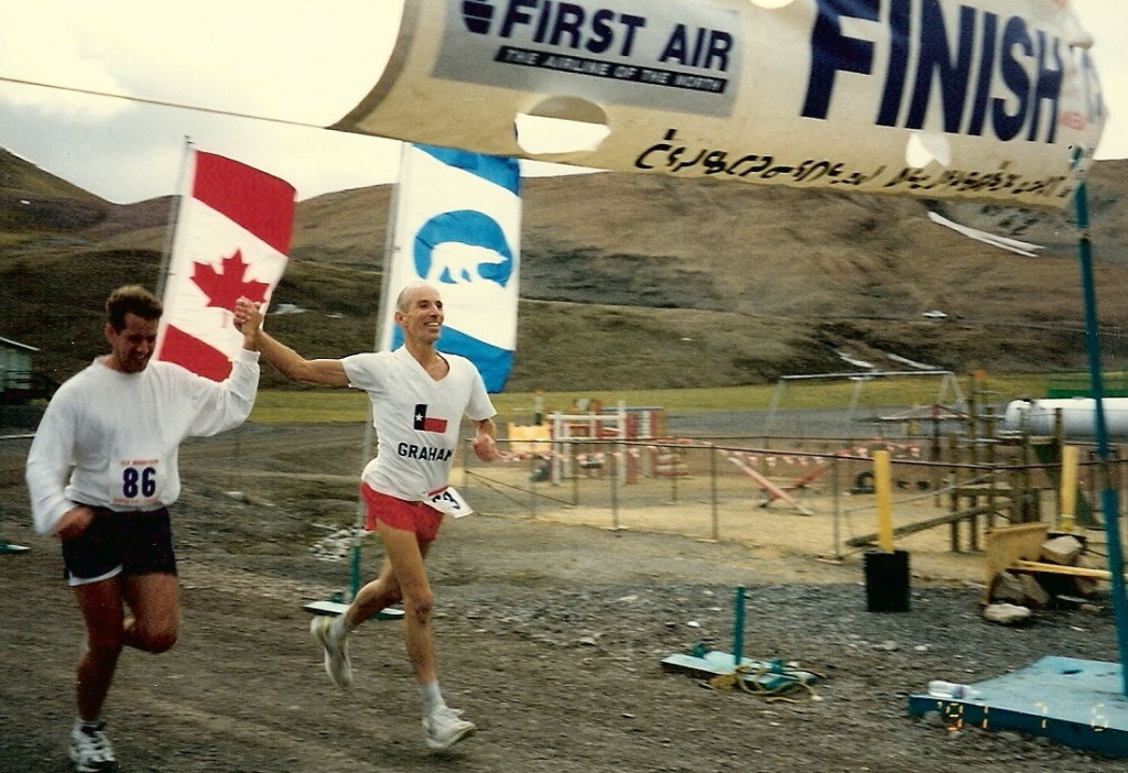 Midnight Sun Marathon - Nanisivik, Nanavut, Canada, 1997. Credit: Maddog