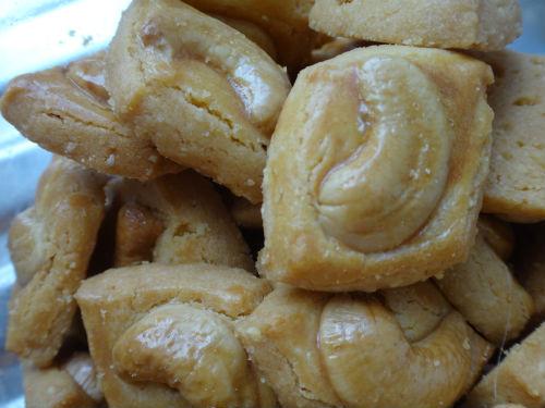 Cashew Nut Cookies.