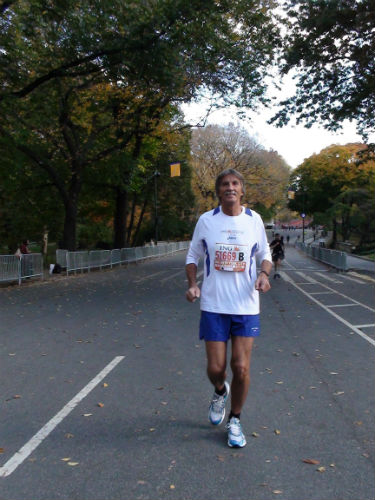 Anton enjoying a slow run at New York's Central Park. (Picture courtesy of Anton Reiter)