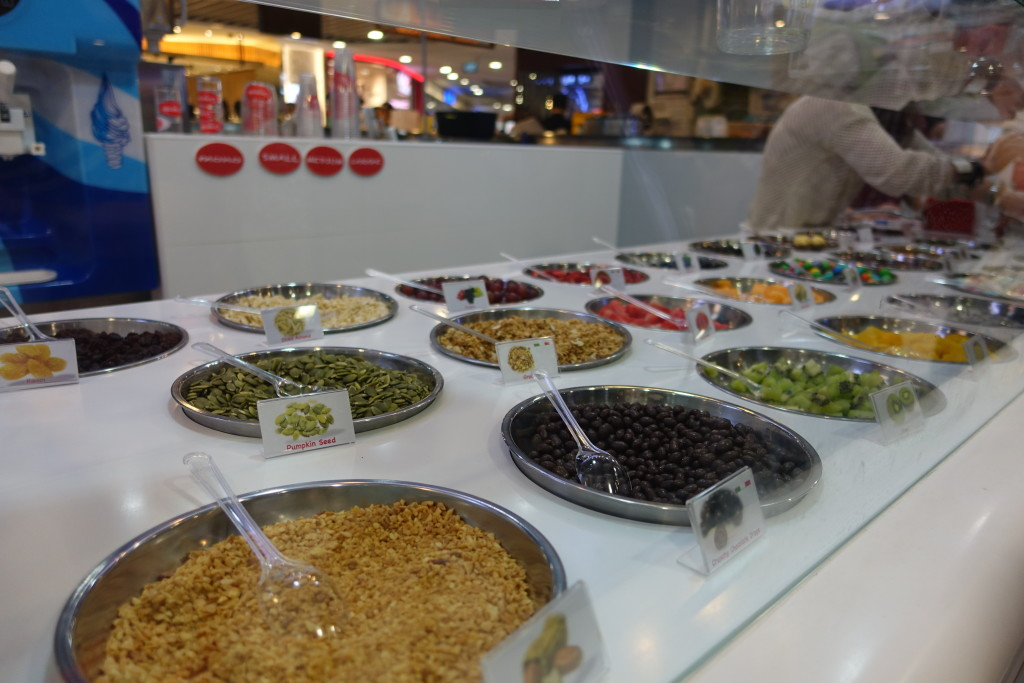 A wide variety of healthy toppings to choose from.