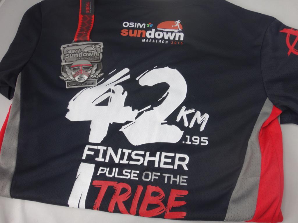 My souvenir for running 42.195km.