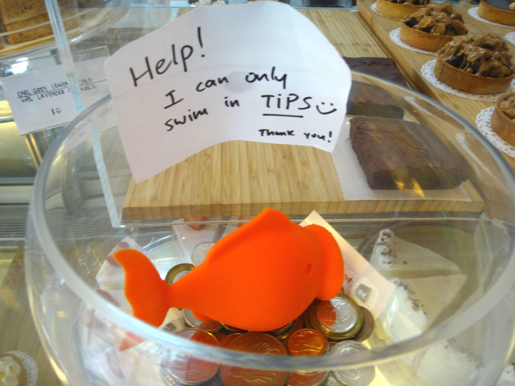This cute toy fish greets you at the counter at Bloomsbury Bakers.
