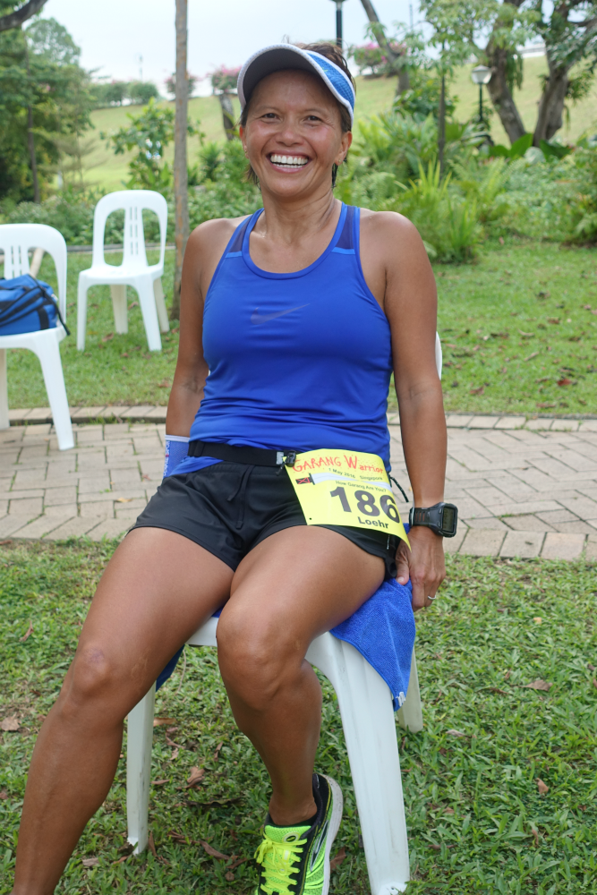 Mary Loehr enjoyed the challenge of the Garang Warrior Ultra.