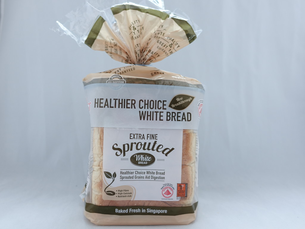 The bread is a Healthier Choice product.