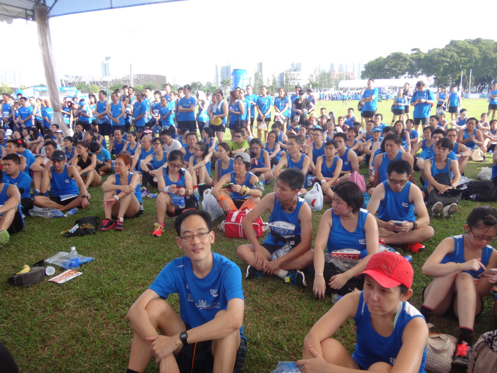 Runners awaiting the lucky draw.