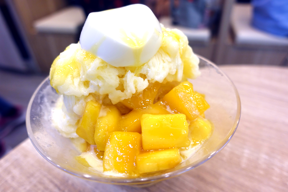 The Mango Snowflake ice is the shop's signature item.