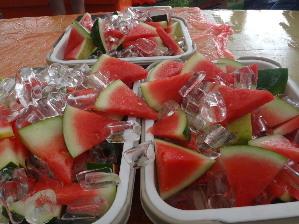 Watermelons were available...for those who were sick of bananas!
