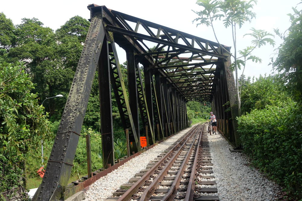 Lots of iconic train tracks at the Green Corridor.