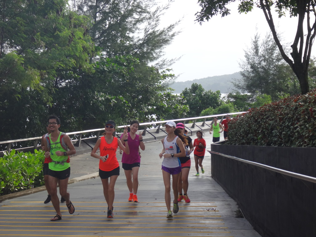 Runners at Punggol Waterway Park.