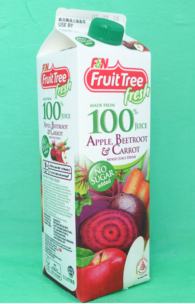 The new F&N Fruit Tree Fresh Mixed Juice Drinks.