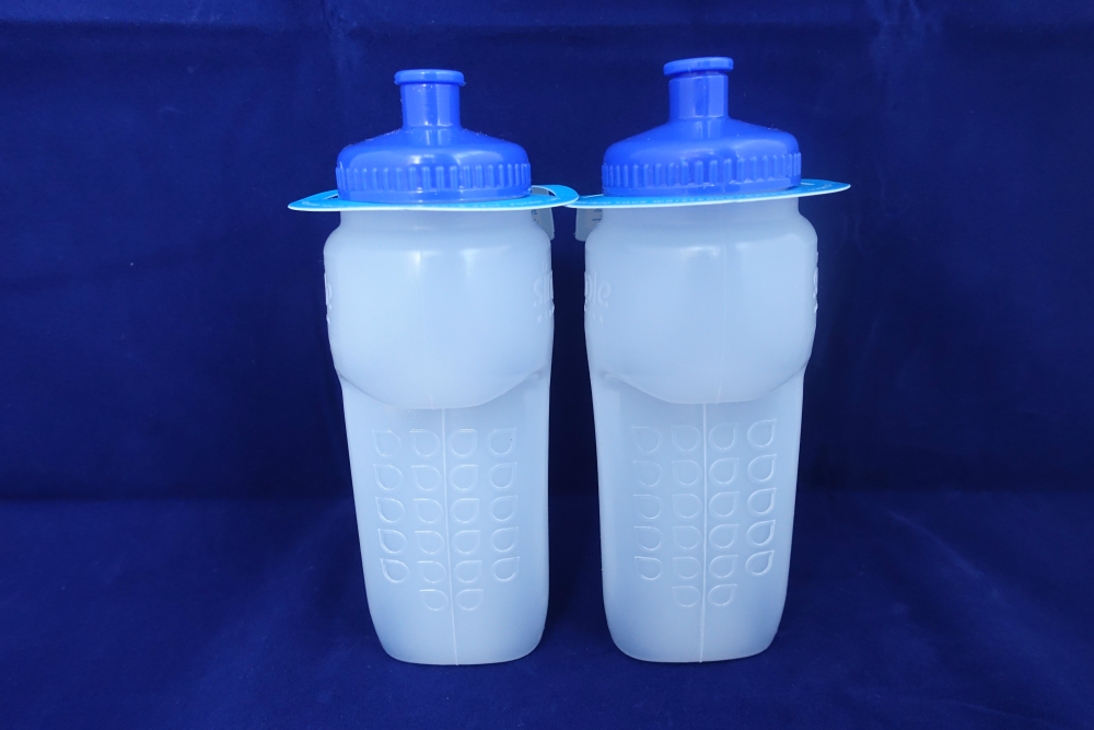 The bottles can also be used during running races.
