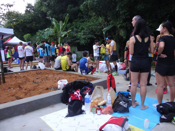 "Runners ""chope"" their picnic places."