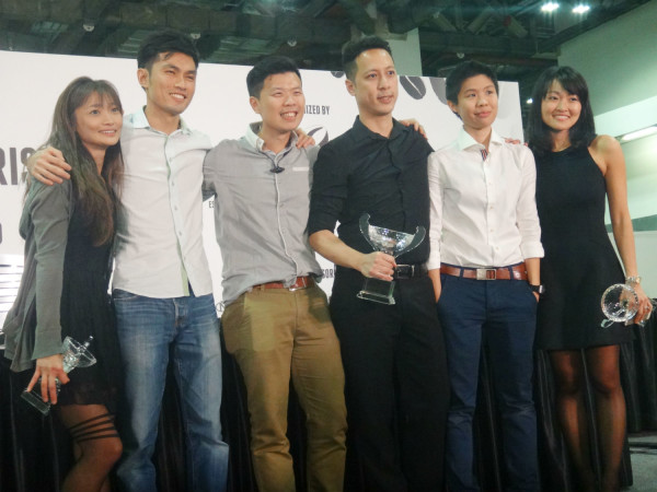 This year's finalists at the Singapore National Barista Championships - from left to right: Regina Tay, John Ryan Ting, Lee Hee Wei, Dennis Tang, Loke Xinyi & Zenn Soon.