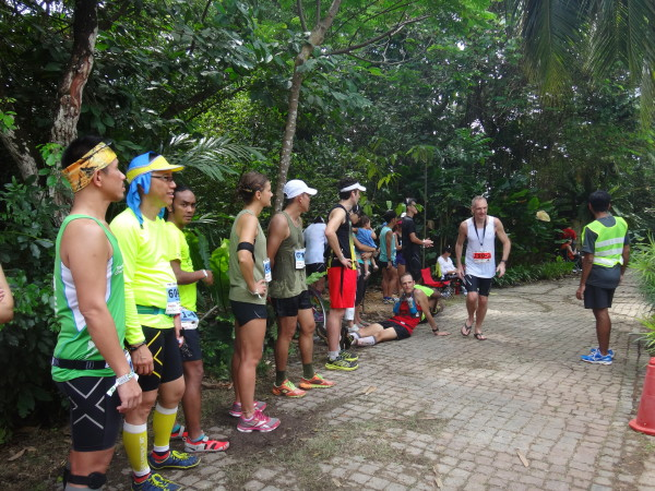 Runners waiting for their turn.
