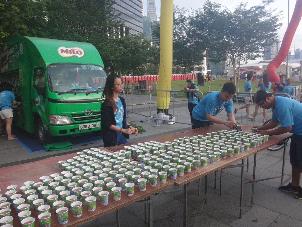 The Milo Van is waiting at the end point, with cold, refreshing Milo.
